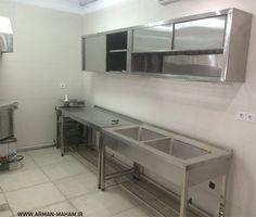 سینک و کابینت استیل تجهیزات آشپزخانه