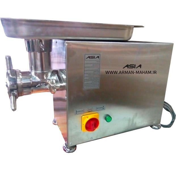 چرخ گوشت گیربکسی رومیزی صنعتی استیل