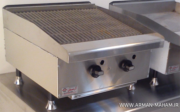 دستگاه گریل ذغالی برگر رومیزی