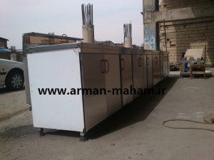 کابینت زمینی صنعتی استیل آشپزخانه