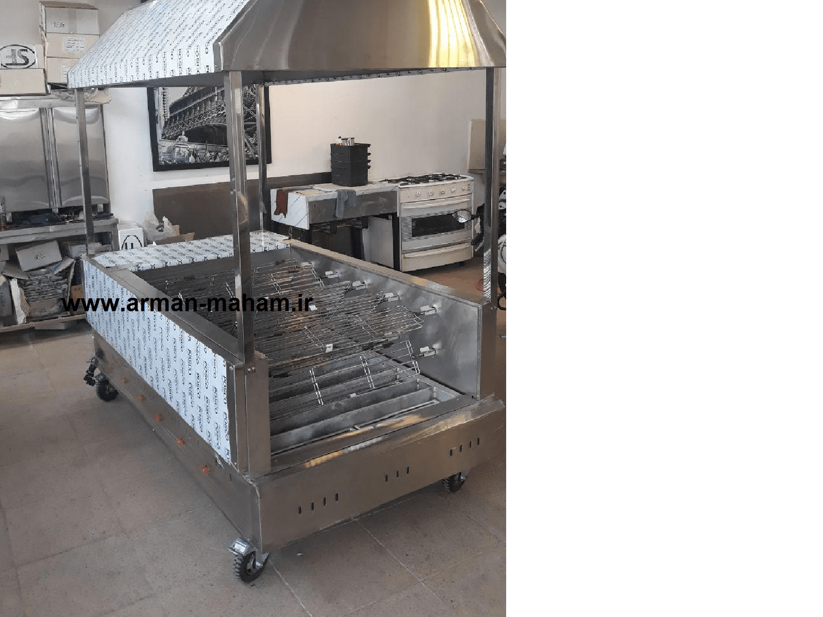 دستگاه زغالی بزرگ مرغ بریان